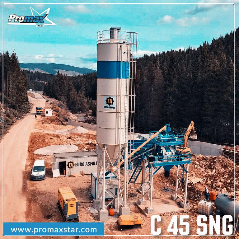 новый бетонный завод PROMAX Compact Concrete Batching Plant PROMAX C60 SNG PLUS (60m³/h)